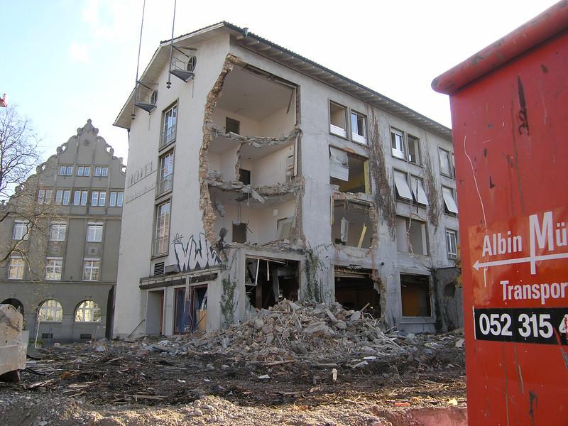 Der Anfang vom Ende - good-bye Volkshaus Winterthur