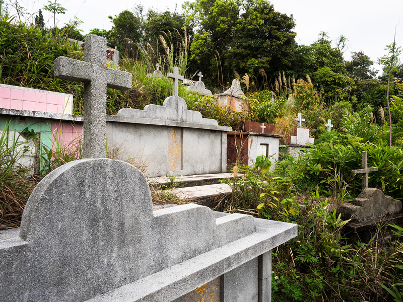 The old (Christian) cemetery  outside the village.