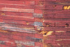 Methow, Winthrop - Close up of red grain silo wood texture