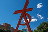 """Letter A Shape Challenge source image - painted steel sculpture, Orion, by Mark di Suvero<br /> Main Campus, University of Michigan, Ann Arbor<br /> Taken July 4, 2014<br /> <br /> See here <a href=""""http://smu.gs/1m5kF1T"""">http://smu.gs/1m5kF1T</a> for the Letter Shape entry I created from this image."""