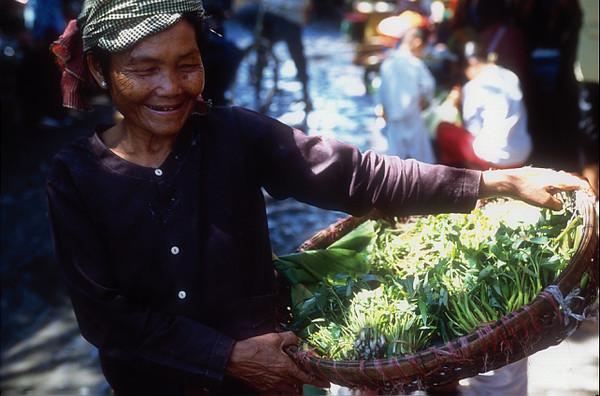 Happy market day. Siem Reap, Cambodia.