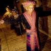 Traditional dancing performed for the guests at the village longhouse, Sabah, Borneo.