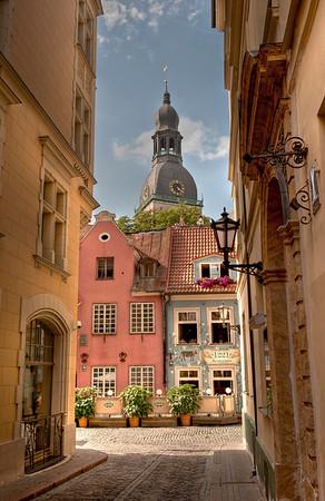 HDR: Old Town Riga, Latvia.