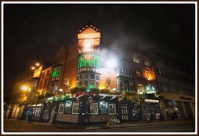 Dublin, Ireland at night.