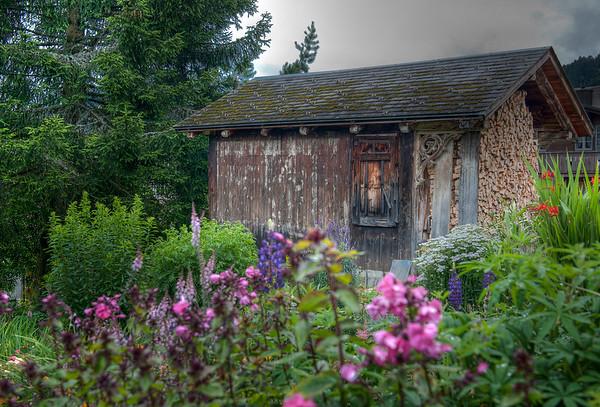 Wood shed, Mürren, Switzerland.
