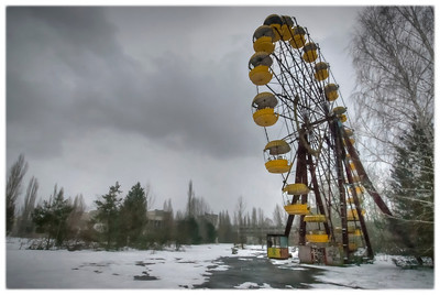 The ferris wheel inside the 30-kilometer Chernobyl Exclusion Zone, Pripyat, Ukraine.