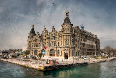 Haydarpasha Train Station, Kadaköy, Istanbul, Turkey - textured HDR.