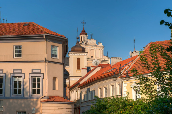 HDR: Architecture in old town Vilnius, Lithuania.