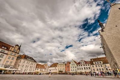 The Old Town square, Tallinn, Estonia.