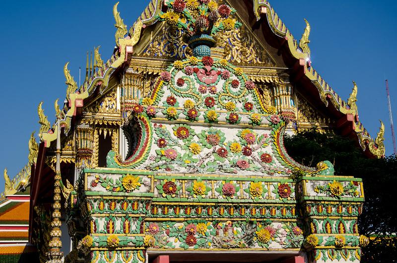 Temple Facade, Bangkok, Thailand