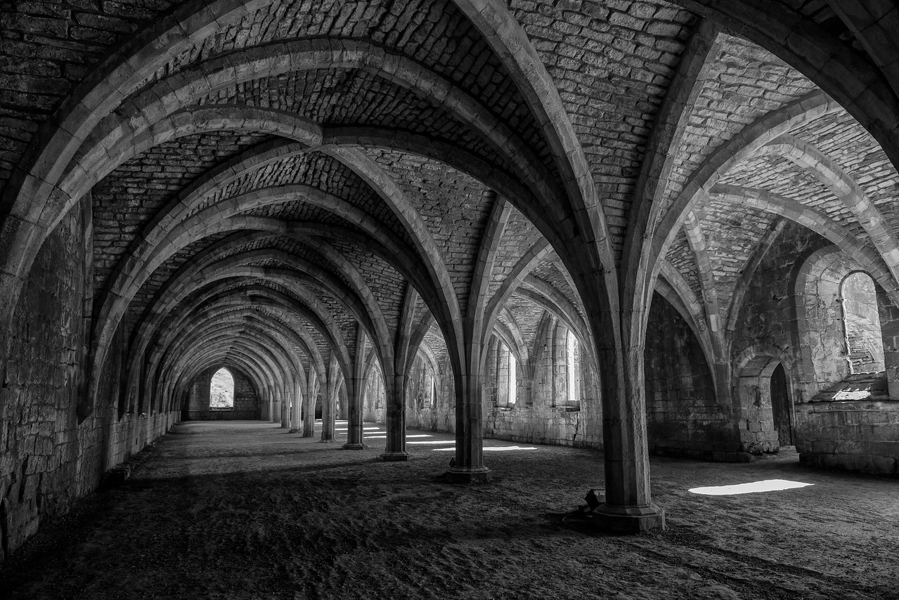 Storage cellars, Fountains Abbey, England