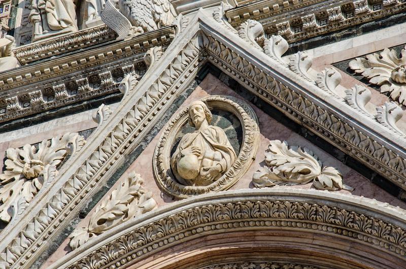 Cathedral door, Siena, italy