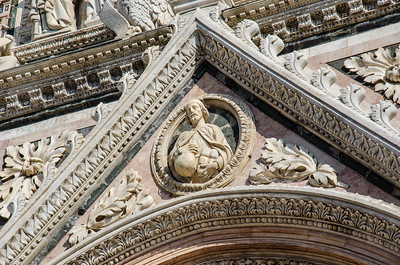 Cathedral door, Siena, italy