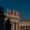 Moonrise, St. Peter's Basilica, Vatican, Rome, Italy