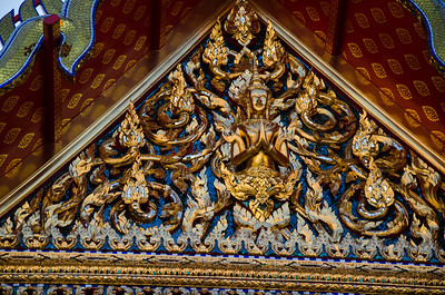 Temple door, Bangkok, Thailand