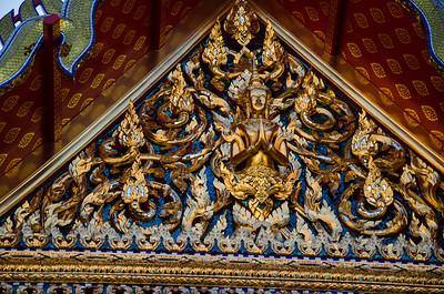 Temple door, Bangkok, Thailand