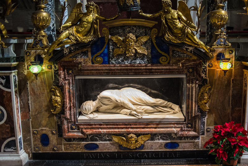 Altar Santa Cecilia, Trastevere, Rome, Italy