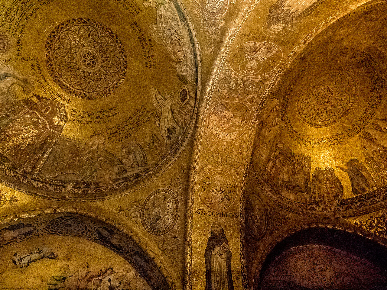 Aisle Ceiling, St. Mark's Cathedral, Venice, Italy