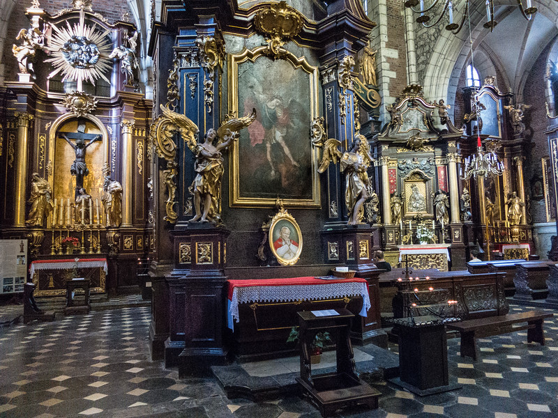 Pope John Paul memorial, Basilica of Krakow, Poland