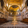 Papal seat, St. John Lateran, Rome, Italy