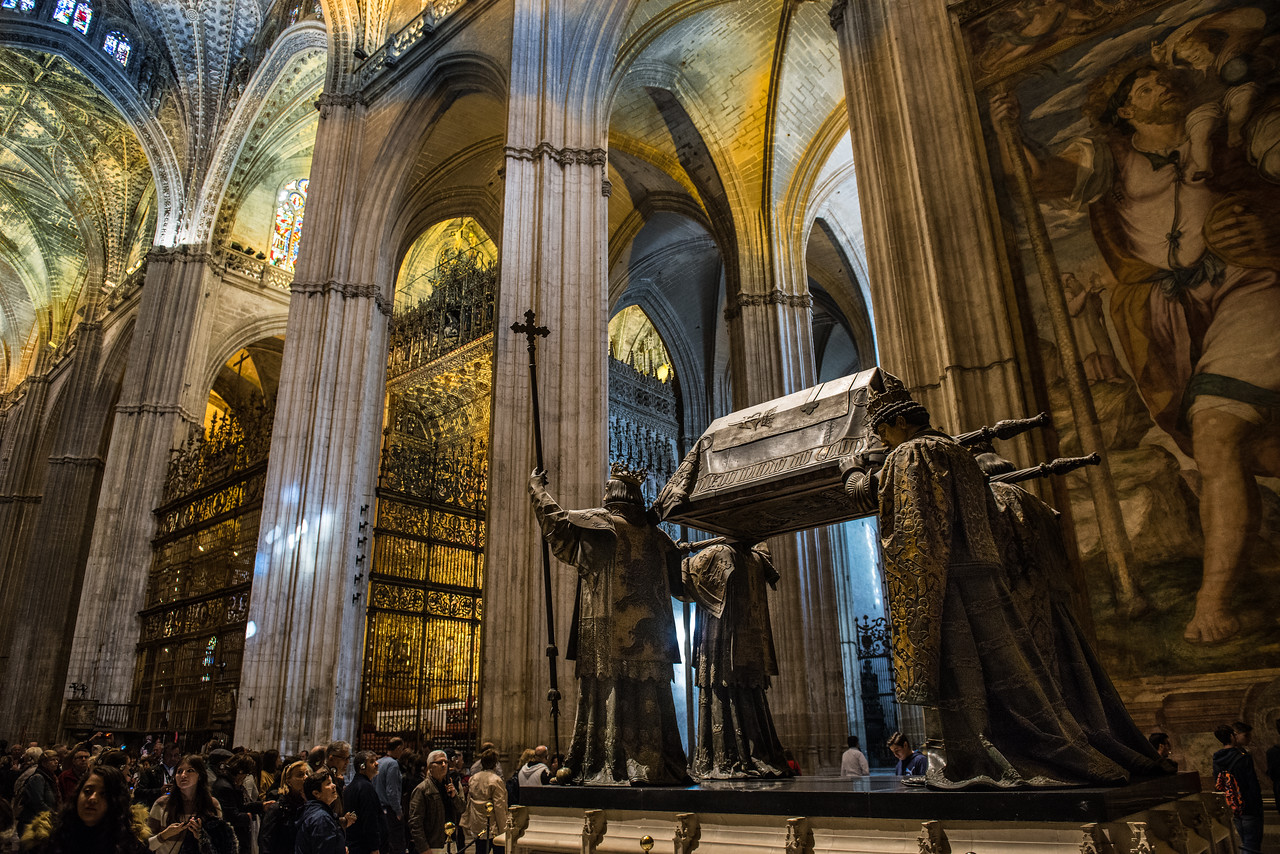 Tomb of Christopher Columbus, Cathedral of Sevilla, Spain
