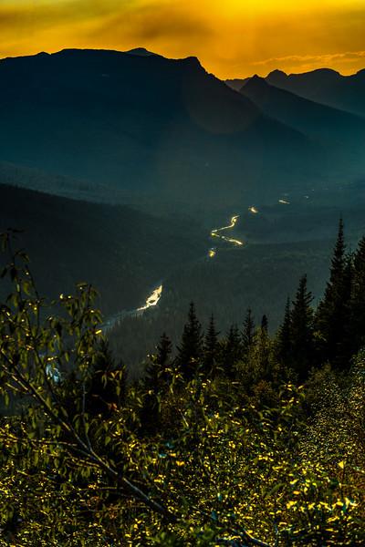 Sunset Glacier National Park, Montana