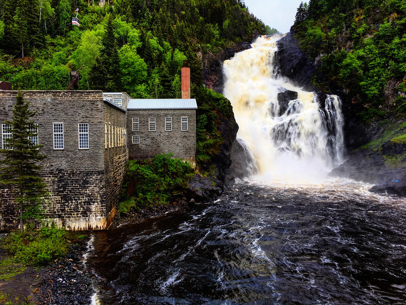 Mill and Waterfall, Saguenay, Quebec, Canada