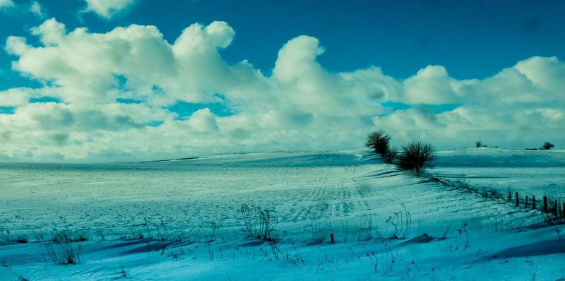 Winter, Interstate 80, Iowa