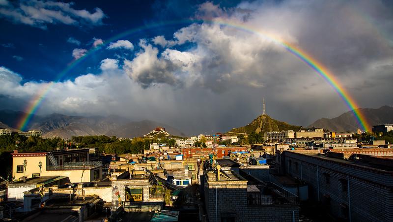 Rainbow, Lhasa, Tibet
