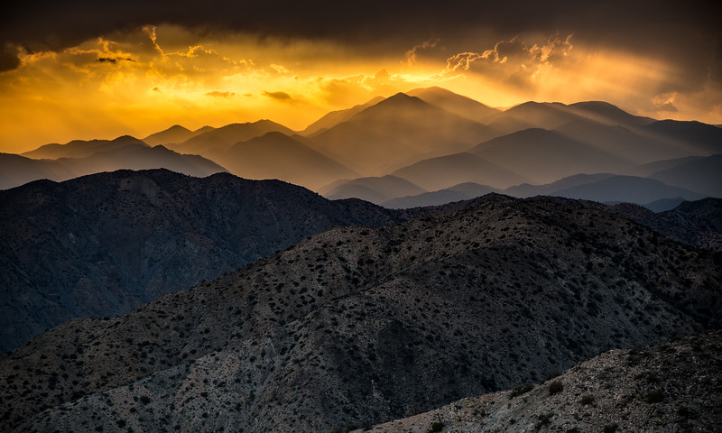 Sunset, Keys View, Joshua Tree National Park, California