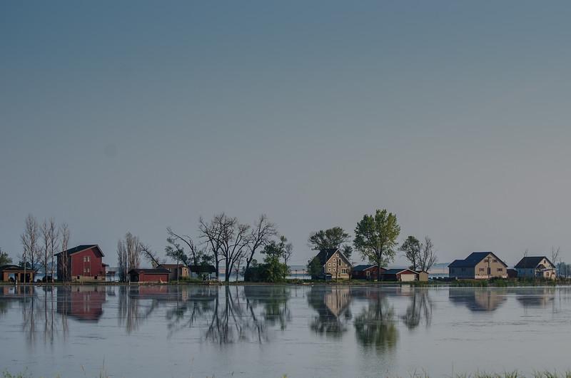 Flooded Homes, Webster, South Dakota