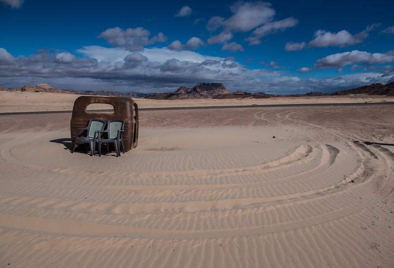 Truck body, Sinai Desert, Egypt