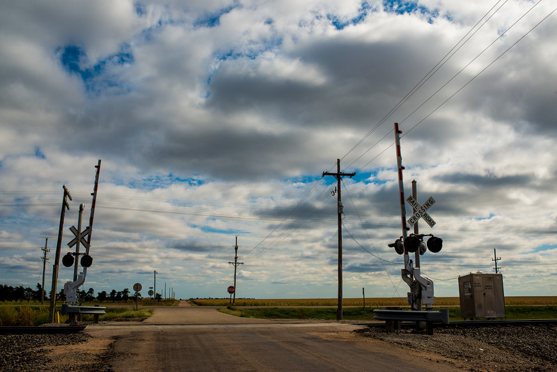 Railroad Crossing, Western Kansas