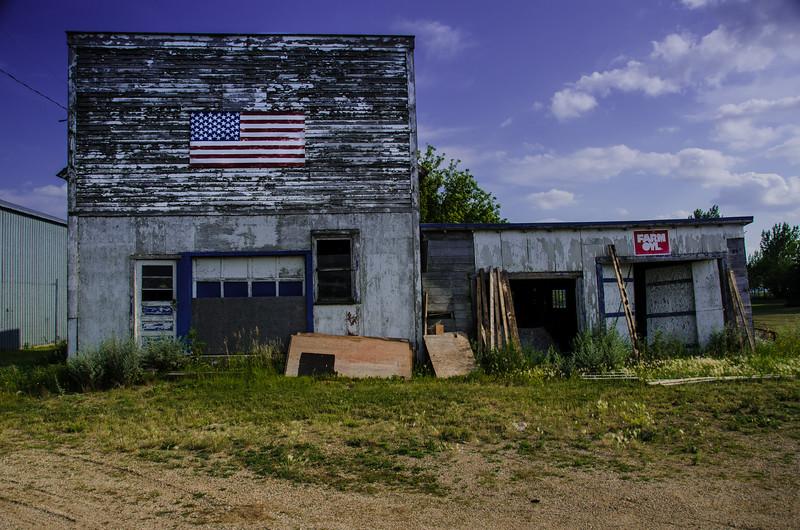 Abandoned buildings, near Lily, South Dakota