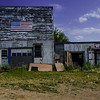 Abandoned buildings, near Lily, South Dakota