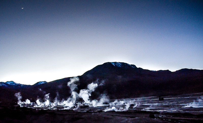 Tatio Geysers at Dawn, Atacama Desert, Chile