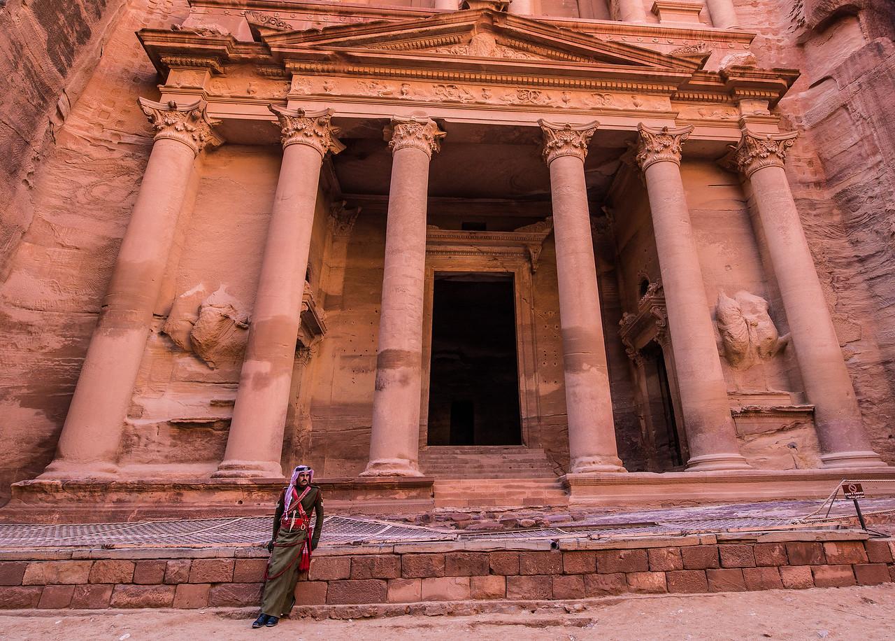 Guard at the Treasury, Petra, Jordan