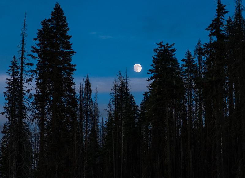 Moonrise, Lassen Volcanic National Park, California