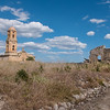 Bombed town from the Spanish Civil War, Corbera d'Ebre, Catalunya, Spain