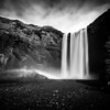 Skogafoss Black and White