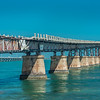 THE OLD FLORIDA KEYS RAILWAY BRIDGE by John Allen