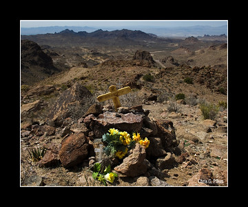 Oatman, Arizona I found this memorial along what must be one of the most desolate roads in the USA.