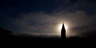 Silhouetted Steeple