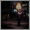 Firebreather on Grafton Street, Dublin, Ireland.