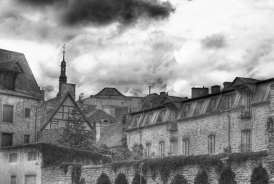 Rooftops of the Old Town, Tallinn, Estonia.