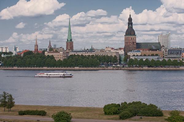 Riga, Latvia and the Daugava River.