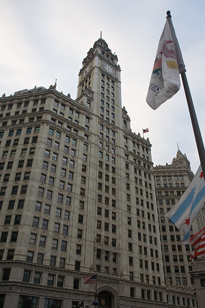 Building & Flags, Chicago, IL