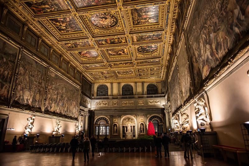 Main Hall, Palazzo Vecchio, Florence, Italy