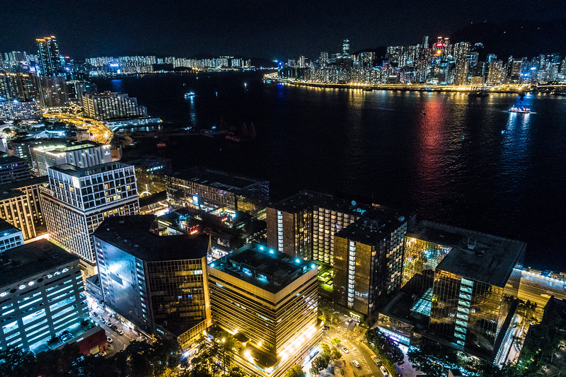 Victoria Harbour from the Panorama Hotel, Hong Kong