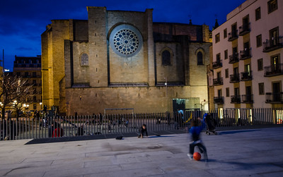 Boys Playing Soccer, San Sebastian, Spain
